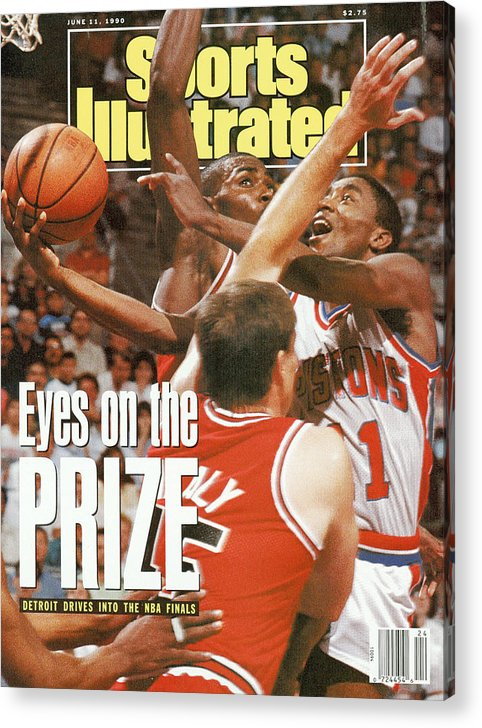 Chicago Bulls Acrylic Print featuring the photograph Detroit Pistons Isiah Thomas, 1990 Nba Eastern Conference Sports Illustrated Cover by Sports Illustrated