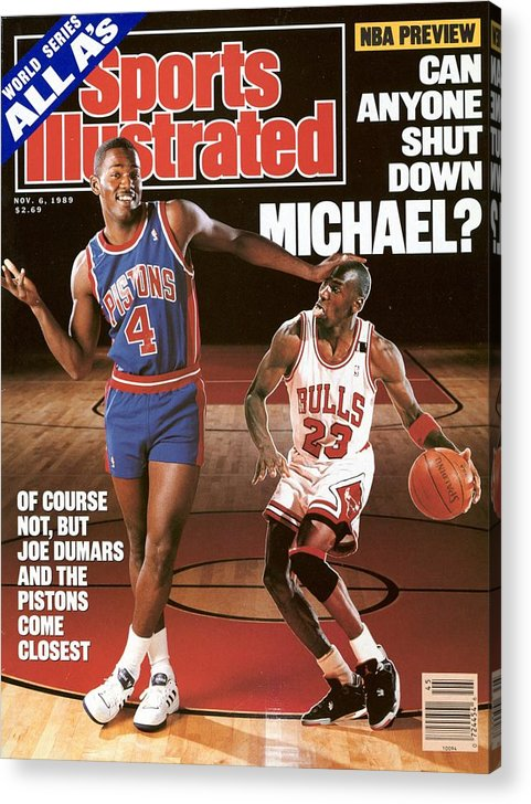 Magazine Cover Acrylic Print featuring the photograph Detroit Pistons Joe Dumars, 1989 Nba Basketball Preview Sports Illustrated Cover by Sports Illustrated
