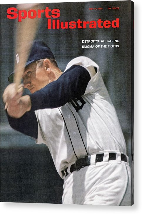 Magazine Cover Acrylic Print featuring the photograph Detroit Tigers Al Kaline Sports Illustrated Cover by Sports Illustrated