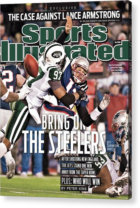 Magazine Cover Acrylic Print featuring the photograph Divisional Playoffs - New York Jets V New England Patriots Sports Illustrated Cover by Sports Illustrated