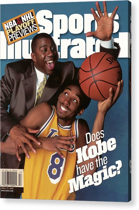 Magazine Cover Acrylic Print featuring the photograph Does Kobe Have The Magic Sports Illustrated Cover by Sports Illustrated