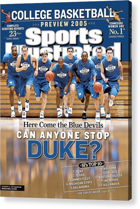 North Carolina Acrylic Print featuring the photograph Duke University Basketball Team Sports Illustrated Cover by Sports Illustrated