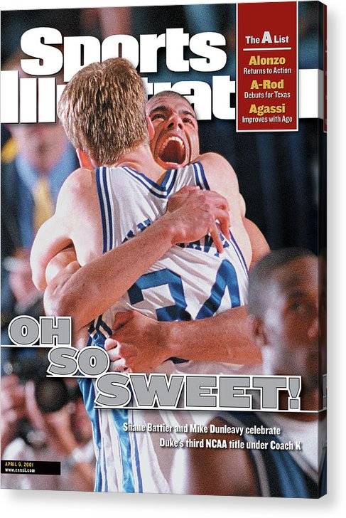 Magazine Cover Acrylic Print featuring the photograph Duke University Shane Battier, 2001 Ncaa National Sports Illustrated Cover by Sports Illustrated