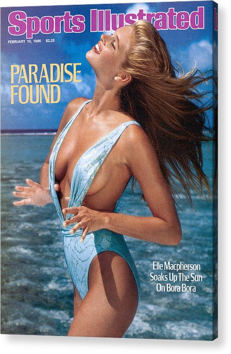 1980-1989 Acrylic Print featuring the photograph Elle Macpherson Swimsuit 1986 Sports Illustrated Cover by Sports Illustrated