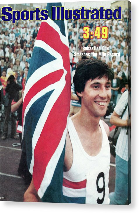 Magazine Cover Acrylic Print featuring the photograph England Sebastian Coe, 1979 Iaaf Dubai Golden Mile Sports Illustrated Cover by Sports Illustrated