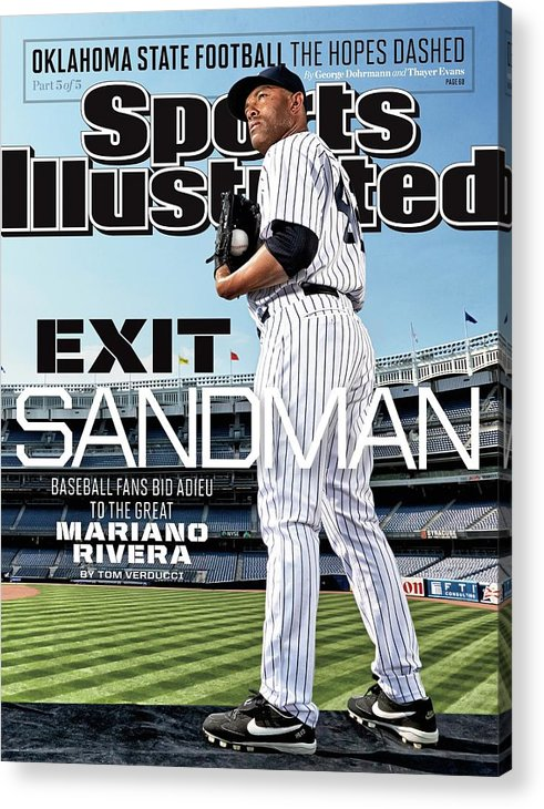 Magazine Cover Acrylic Print featuring the photograph Exit Sandman Baseball Fans Bid Adieu To The Great Mariano Sports Illustrated Cover by Sports Illustrated