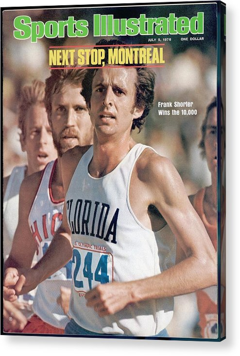 Magazine Cover Acrylic Print featuring the photograph Florida Frank Shorter, 1976 Us Olympic Trials Sports Illustrated Cover by Sports Illustrated
