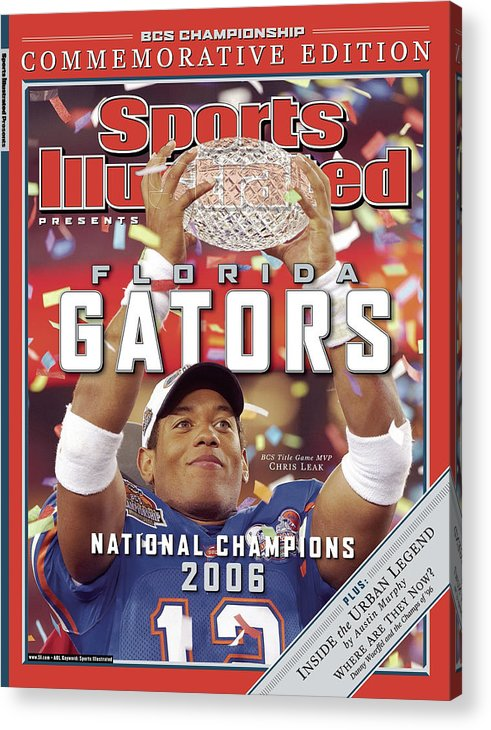 Magazine Cover Acrylic Print featuring the photograph Florida Qb Chris Leak, 2007 Bcs National Championship Game Sports Illustrated Cover by Sports Illustrated
