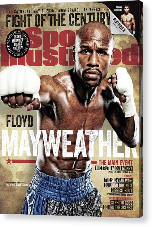 Event Acrylic Print featuring the photograph Floyd Mayweather Jr., 2015 Wbawbcwbo Welterweight Title Sports Illustrated Cover by Sports Illustrated