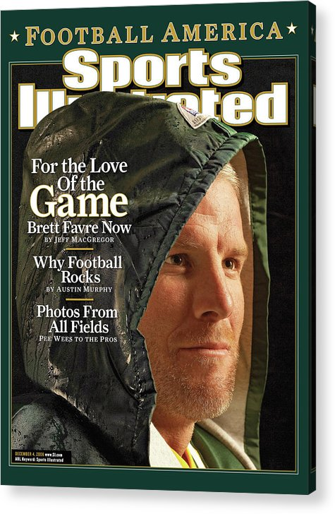 Green Bay Acrylic Print featuring the photograph For The Love Of The Game Brett Favre Now Sports Illustrated Cover by Sports Illustrated