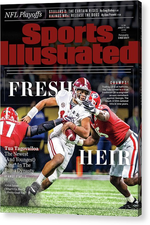 Atlanta Acrylic Print featuring the photograph Fresh Heir Tua Tagovailoa, The Newest And Youngest King* In Sports Illustrated Cover by Sports Illustrated