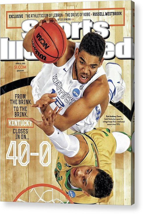 Magazine Cover Acrylic Print featuring the photograph From The Brink. To The Brink. Kentucky Closes In On Sports Illustrated Cover by Sports Illustrated