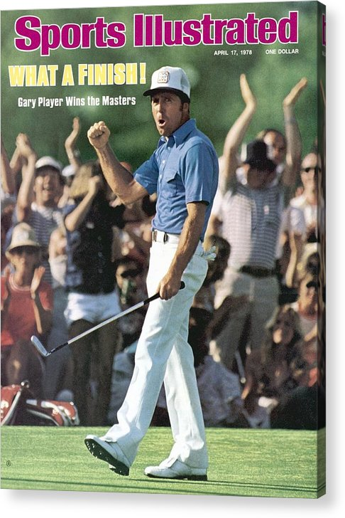 Magazine Cover Acrylic Print featuring the photograph Gary Player, 1978 Masters Sports Illustrated Cover by Sports Illustrated