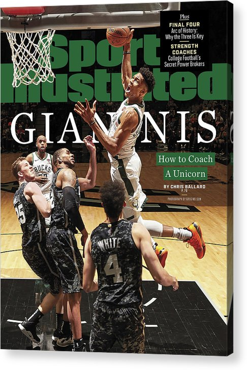 Magazine Cover Acrylic Print featuring the photograph Giannis How To Coach A Unicorn Sports Illustrated Cover by Sports Illustrated