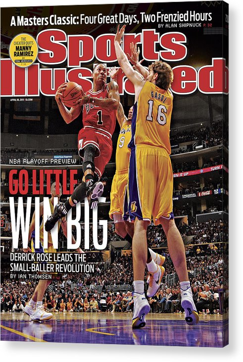 Chicago Bulls Acrylic Print featuring the photograph Go Little, Win Bing 2011 Nba Playoff Preview Issue Sports Illustrated Cover by Sports Illustrated