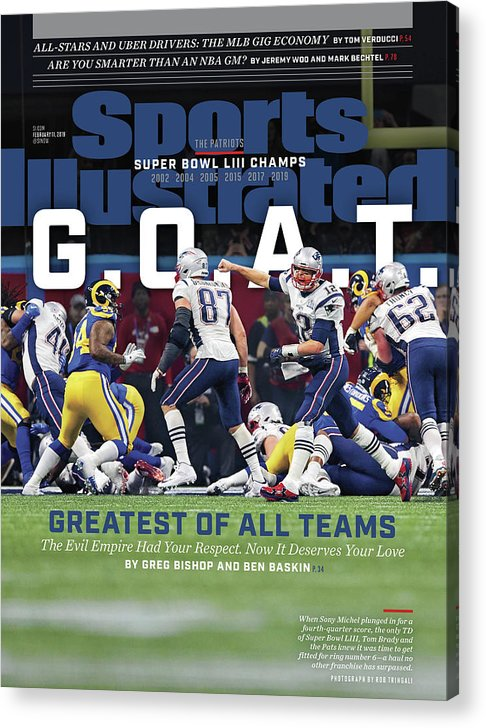 Atlanta Acrylic Print featuring the photograph G.o.a.t Greatest Of All Teams Sports Illustrated Cover by Sports Illustrated