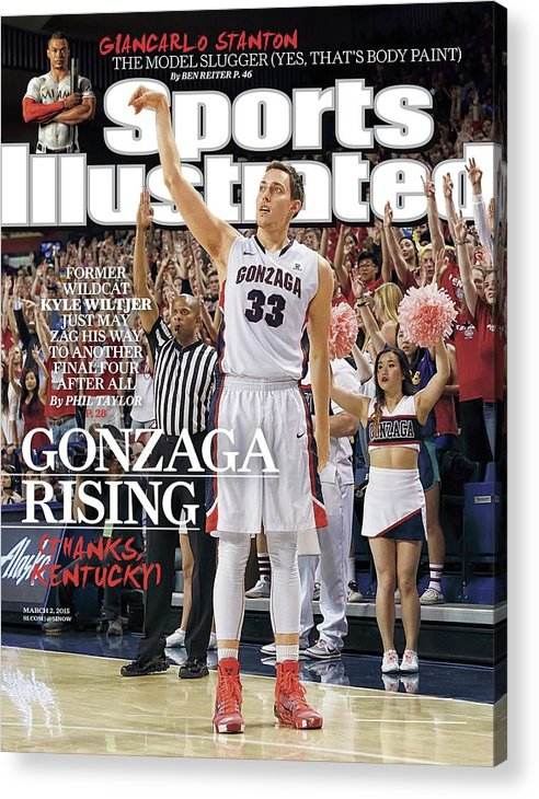 Magazine Cover Acrylic Print featuring the photograph Gonzaga Rising Sports Illustrated Cover by Sports Illustrated