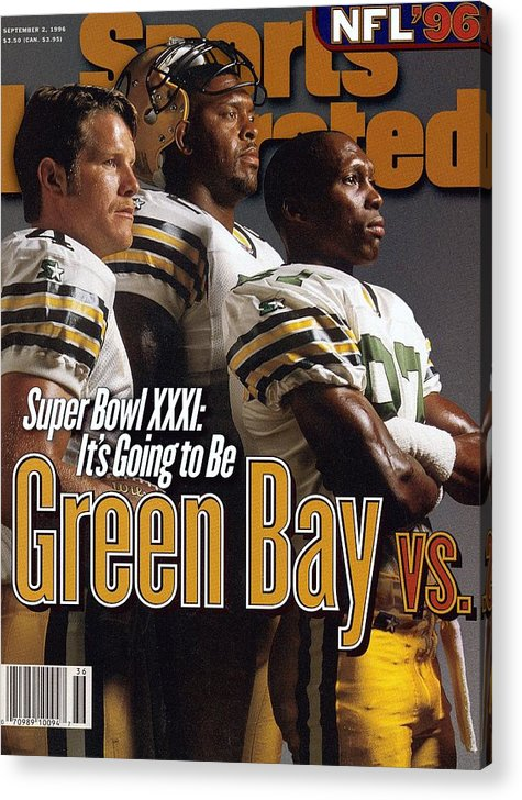 Green Bay Acrylic Print featuring the photograph Green Bay Packers, 1996 Nfl Football Preview Issue Sports Illustrated Cover by Sports Illustrated
