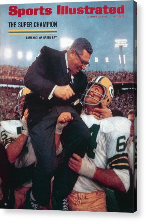 Magazine Cover Acrylic Print featuring the photograph Green Bay Packers Coach Vince Lombardi, Super Bowl II Sports Illustrated Cover by Sports Illustrated