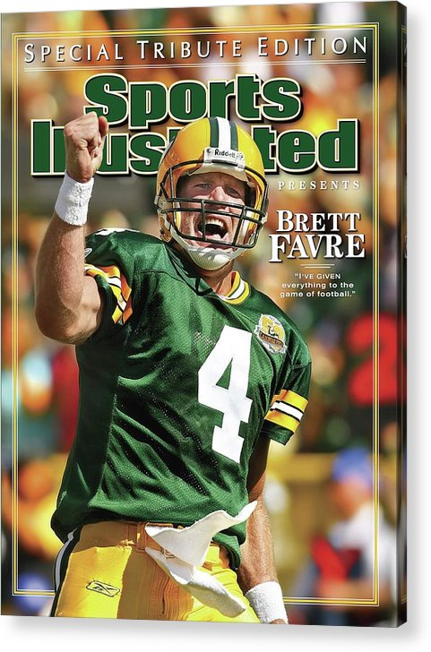 Green Bay Acrylic Print featuring the photograph Green Bay Packers Qb Brett Favre Special Tribute Edition Sports Illustrated Cover by Sports Illustrated