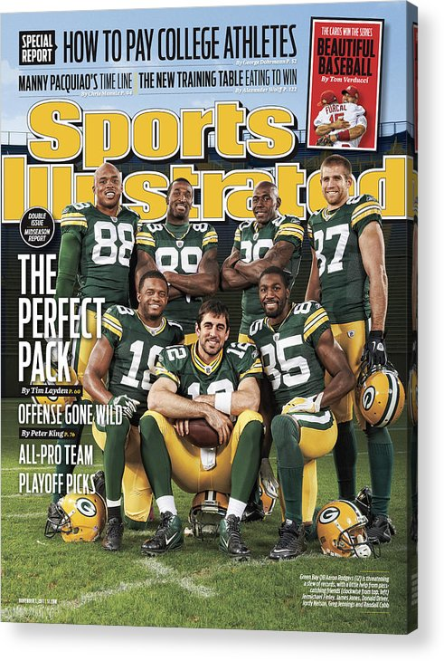 Green Bay Acrylic Print featuring the photograph Green Bay Packers The Perfect Pack Sports Illustrated Cover by Sports Illustrated