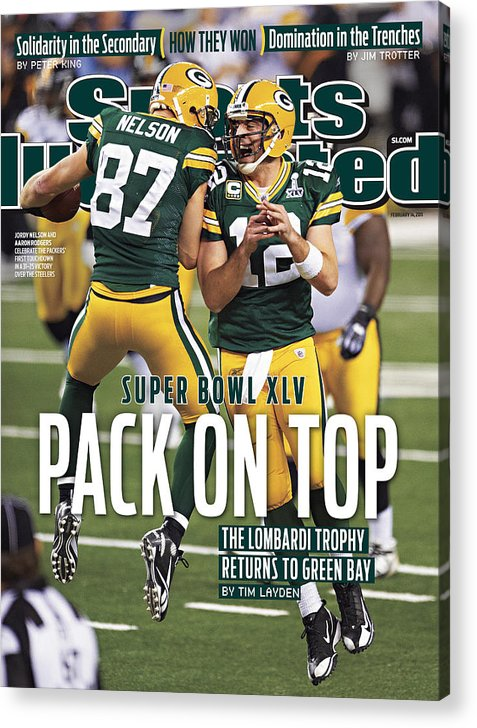 Sports Illustrated Acrylic Print featuring the photograph Green Bay Packers Vs Pittsburgh Steelers, Super Bowl Xlv Sports Illustrated Cover by Sports Illustrated