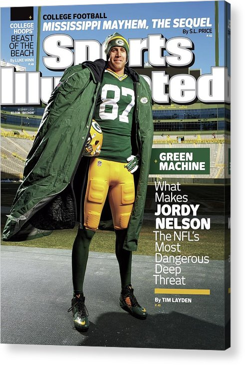 Green Bay Acrylic Print featuring the photograph Green Machine What Makes Jordy Nelson The Nfls Most Sports Illustrated Cover by Sports Illustrated