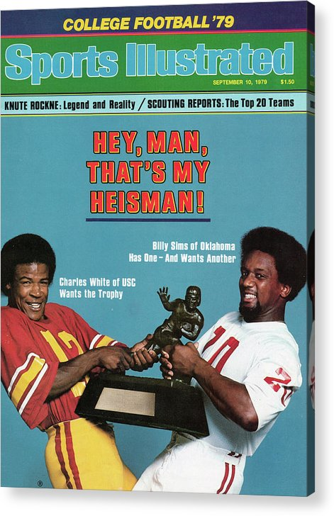 Season Acrylic Print featuring the photograph Hey, Man, Thats My Heisman 1979 College Football Preview Sports Illustrated Cover by Sports Illustrated