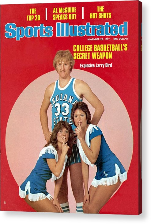 Magazine Cover Acrylic Print featuring the photograph Indiana State Larry Bird Sports Illustrated Cover by Sports Illustrated