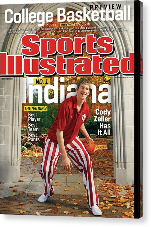 Season Acrylic Print featuring the photograph Indiana University Cody Zeller, 2012-13 College Basketball Sports Illustrated Cover by Sports Illustrated