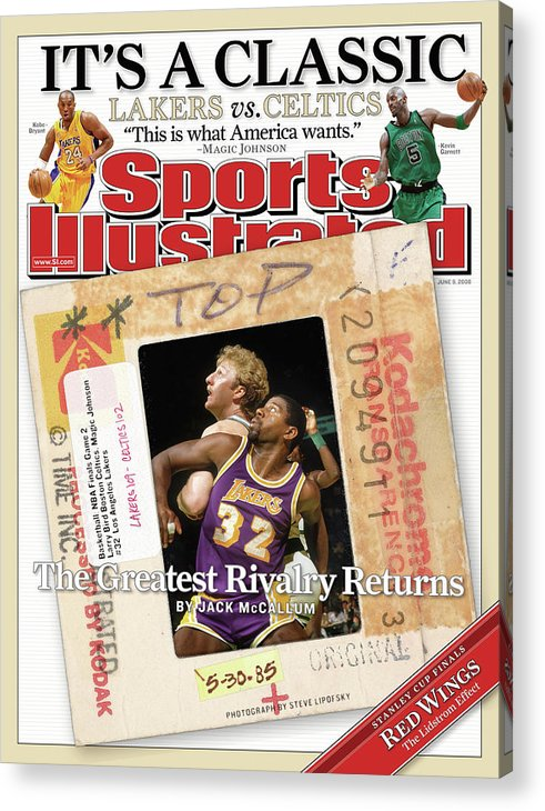Magazine Cover Acrylic Print featuring the photograph Its A Classic, Lakers Vs. Celtics The Greatest Rivalry Sports Illustrated Cover by Sports Illustrated