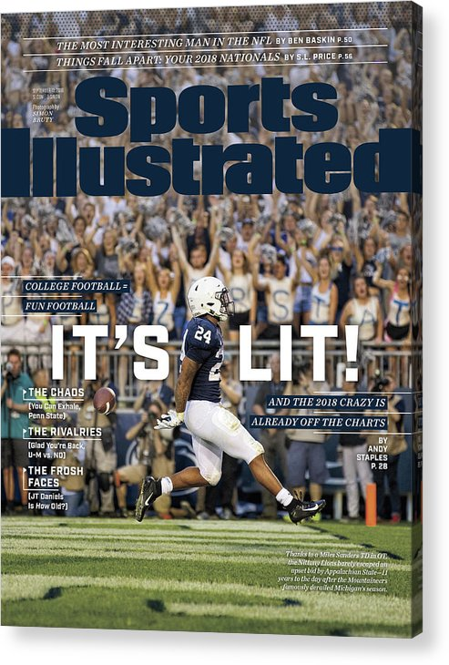 Magazine Cover Acrylic Print featuring the photograph Its Lit And The 2018 Crazy Is Already Off The Charts Sports Illustrated Cover by Sports Illustrated