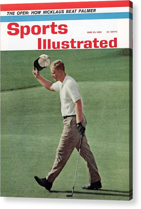 Magazine Cover Acrylic Print featuring the photograph Jack Nicklaus, 1962 Us Open Sports Illustrated Cover by Sports Illustrated