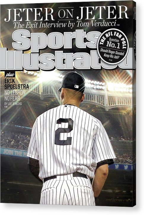Magazine Cover Acrylic Print featuring the photograph Jeter On Jeter The Exit Interview Sports Illustrated Cover by Sports Illustrated