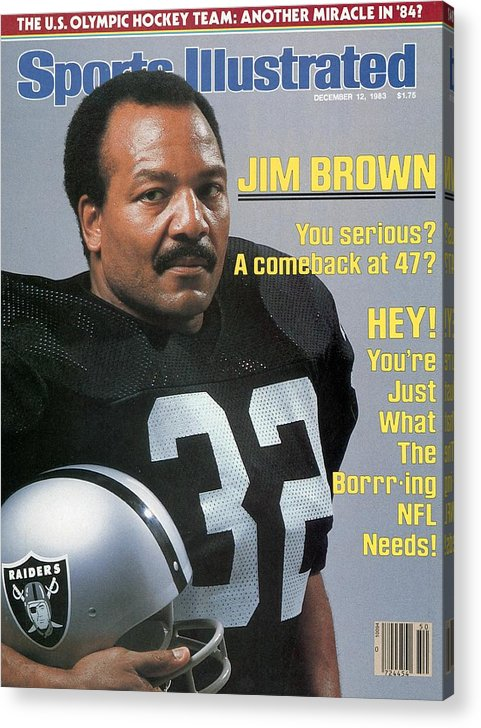 Magazine Cover Acrylic Print featuring the photograph Jim Brown, Retired Football Player Sports Illustrated Cover by Sports Illustrated