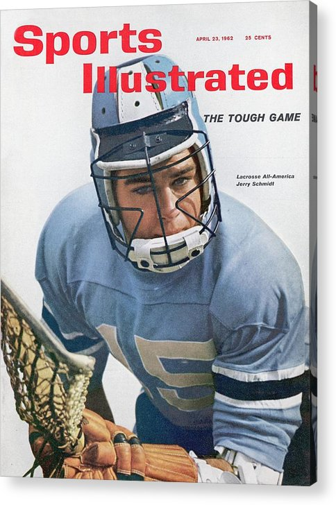 Magazine Cover Acrylic Print featuring the photograph Johns Hopkins Jerry Schmidt... Sports Illustrated Cover by Sports Illustrated