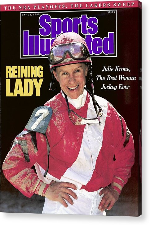 Horse Acrylic Print featuring the photograph Julie Krone, Horse Racing Jockey Sports Illustrated Cover by Sports Illustrated