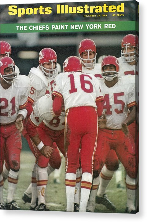 Magazine Cover Acrylic Print featuring the photograph Kansas City Chiefs Offense Sports Illustrated Cover by Sports Illustrated