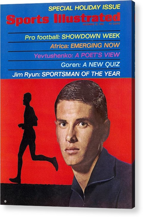 Magazine Cover Acrylic Print featuring the photograph Kansas Jim Ryun, 1966 Sportsman Of The Year Sports Illustrated Cover by Sports Illustrated