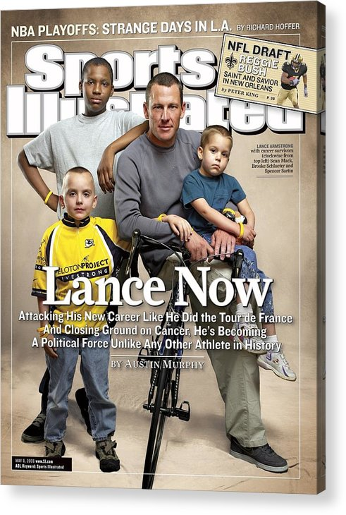 Magazine Cover Acrylic Print featuring the photograph Lance Now Attacking His New Career Like He Did The Tour De Sports Illustrated Cover by Sports Illustrated