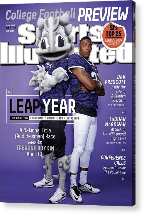 Magazine Cover Acrylic Print featuring the photograph Leap Year 2015 College Football Preview Issue Sports Illustrated Cover by Sports Illustrated