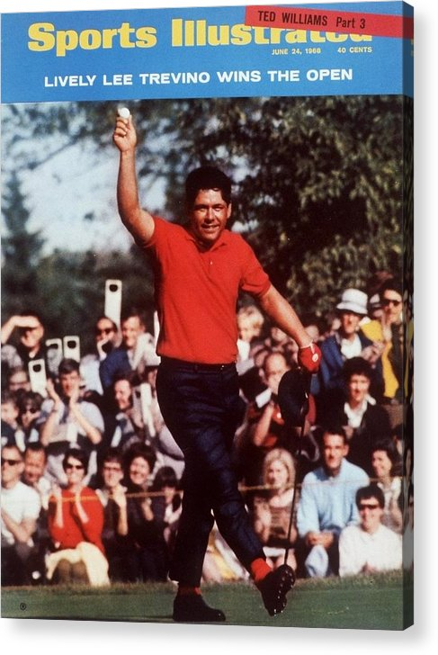 Magazine Cover Acrylic Print featuring the photograph Lee Trevino, 1968 Us Open Sports Illustrated Cover by Sports Illustrated