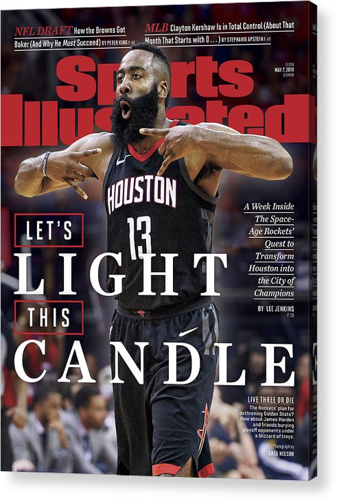 Magazine Cover Acrylic Print featuring the photograph Lets Light This Candle Sports Illustrated Cover by Sports Illustrated