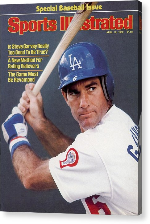 Magazine Cover Acrylic Print featuring the photograph Los Angeles Dodgers Steve Garvey Sports Illustrated Cover by Sports Illustrated