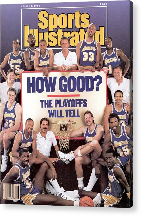 Magazine Cover Acrylic Print featuring the photograph Los Angeles Lakers Sports Illustrated Cover by Sports Illustrated