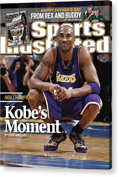 Magazine Cover Acrylic Print featuring the photograph Los Angeles Lakers Kobe Bryant, 2009 Nba Finals Sports Illustrated Cover by Sports Illustrated