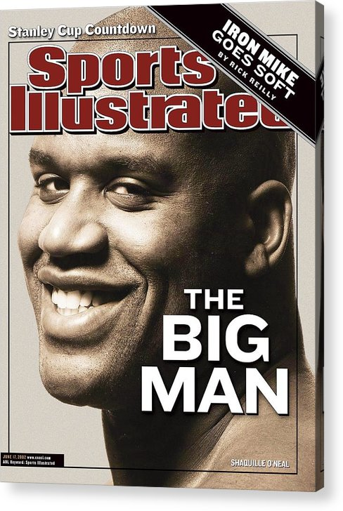 Magazine Cover Acrylic Print featuring the photograph Los Angeles Lakers Shaquille Oneal Sports Illustrated Cover by Sports Illustrated