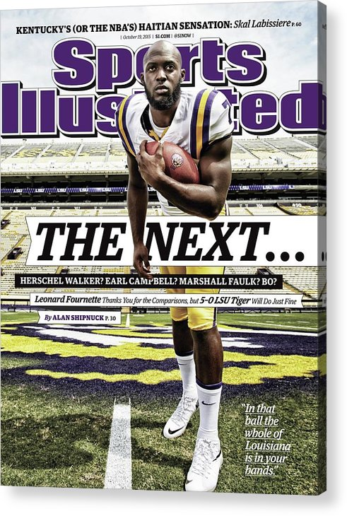 Magazine Cover Acrylic Print featuring the photograph Louisiana State University Leonard Fournette Sports Illustrated Cover by Sports Illustrated