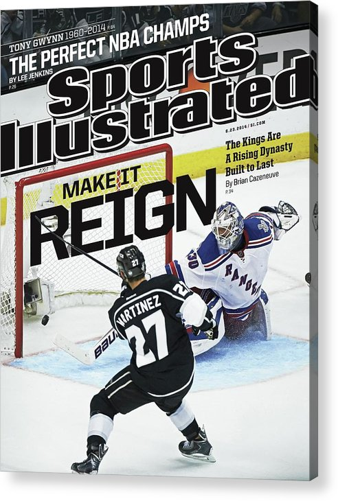 Magazine Cover Acrylic Print featuring the photograph Make It Reign The Kings Are A Rising Dynasty Built To Last Sports Illustrated Cover by Sports Illustrated