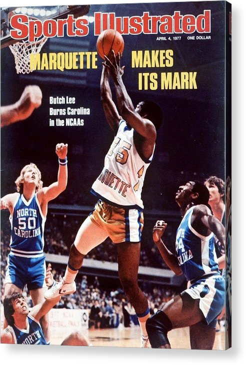 Atlanta Acrylic Print featuring the photograph Marquette Butch Lee, 1977 Ncaa National Championship Sports Illustrated Cover by Sports Illustrated